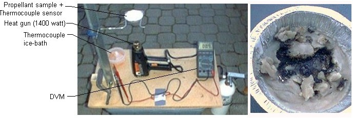setup for overheat experiment